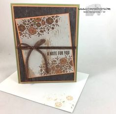 Stampin' Up! Wood Words Note for the Happy Inkin' Thursday Blog Hop | Stamps – n - Lingers