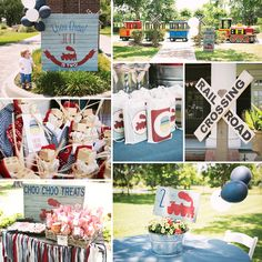 All aboard this Vintage Train Birthday Party {Red, Blue & Choo Choo!} by the talented team at Posh Paperie! ‪#‎Train‬ ‪#‎BirthdayParty‬ http://hwtm.me/11etA8P