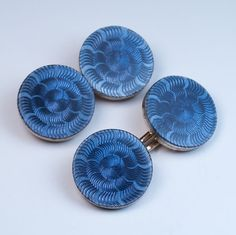 Faberge guilloche enamel double cufflinks workmaster Andre Adler