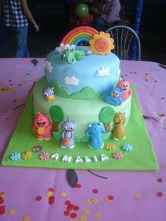 Bizcocho, pastel, tarta de Baby TV cake.