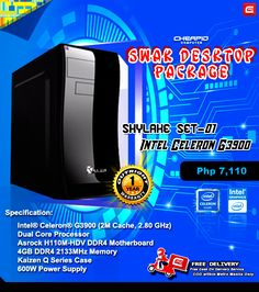 """PLEASE READ CAREFULLY. SOME OF YOUR QUESTIONS MIGHT BE ANSWERED ON POST'S DESCRIPTION!  Looking for a package that's """"SWAK"""" with your budget? Look no more, because we introduce our new SWAK DESKTOP PACKAGE! Customized selection, best choice for diskless.  Because with Cheapid Computer, sigurado #CheapidAko  Covered with """"CPC Palit Agad Warranty System"""" offers 1 Year Outright Replacement Warranty.  ** FREE DELIVERY WITHIN METRO MANILA **  NOTE: NO HDD INCLUDED!  SKYLAKE LIST:  Skylake Package…"""