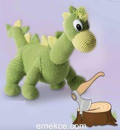Amigurumi Dinozor Yapılışı #style #fashion #love #art #gifts #amigurumi #örgüoyuncak #çocukoyuncağı #organik #organikoyuncak #tığişi #fashion #style #moda #bebek #çocuk #baby #babygirl