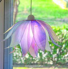 "Items similar to Lotus Flower Chandelier ""Early Morning Lights"" on Etsy Flower Lamp, Flower Chandelier, Flower Lights, Fairy Lights, Lotus Flower, Diy Home Decor Bedroom, Home Decor Furniture, Handmade Lanterns, Diy Luminaire"