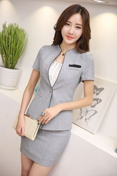 New 2016 Summer Fashion Office Uniform Designs Elegant Women 2 Piece Sets Business Formal Skirt Suit Ladies Plus Size Blazer > Shop luxury perfumes, women clothing for the world Shop luxury perfumes, women clothing for the world