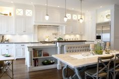 White inset cabinetry, French country furnishings | Benjamin Blackwelder Cabinetry