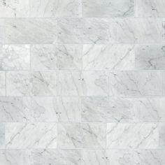 Master bathroom floor - Bianco Carrara Honed Marble Tile - 6 x 12 - 100403401 Carrara Marble Kitchen, Marble Subway Tiles, Honed Marble, Marble Mosaic, Decorative Tile Backsplash, Kitchen Backsplash, Polished Porcelain Tiles, Floor Decor, Interiores Design