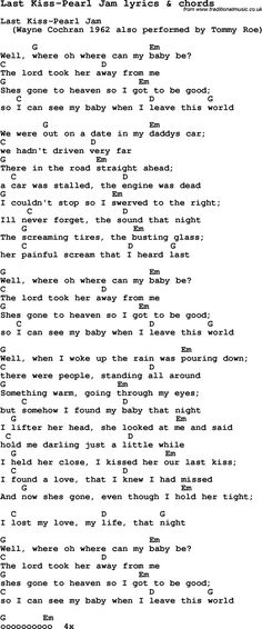 Song Lyrics with guitar chords for End Of The Line   GUITAR MUSIC ...