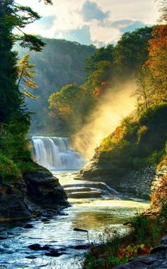 Wallpaper Iphone Best autumn forest k k wallpaper rocks trees plants waterfall Beautiful World, Beautiful Places, Beautiful Pictures, Beautiful Forest, Peaceful Places, Beautiful Scenery, Amazing Photos, Beautiful Waterfalls, Beautiful Landscapes