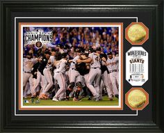 San Francisco Giants 2014 World Series Champions Celebration Gold Coin Photomint - Buy for $99.99 at www.ItsAlreadySigned4U.com - #2014worldseries #sanfranciscogiants #sportsmemorabilia #autographs
