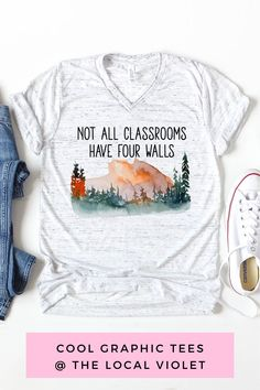 This cute hippie shirt is a great gift for teachers and others who love learning and the outdoors!  #bohographictees #hippiegraphictees #hippiestyle #bohostyle #homeschoolmama #hippiemama #hikingoutfit #campingoutfit Hippie T Shirts, Hippie Tops, Boho Tops, Hippie Style, Hippie Outfits, Mom Outfits, Summer Outfits, Hippie Mama, Great Teacher Gifts