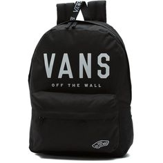 Vans Sporty Realm Backpack ($40) ❤ liked on Polyvore featuring bags, backpacks, knapsack bag, sporty backpacks, daypack bag, polyester backpack and vans backpacks