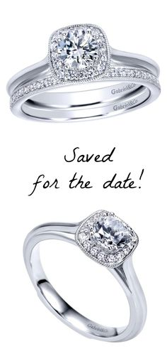 A clean cut white gold engagement ring tailor made for the modern woman.