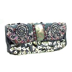 Mouse over image to zoom  Have one to sell? Sell it yourself  Exotic Beauty Mix Stone and Sea Shell Beaded Handmade Clutch
