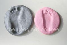 Salt Dough Footprint Keepsakes
