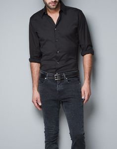 STRETCH SHIRT - Shirts - Man - ZARA United States