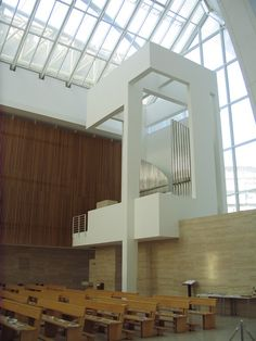 """Built by Richard Meier in Rome, Italy with date 2003. Images by Andrea Giannotti. Located in the eastern suburban area of Rome, the Church of 2000 """"Dives in Misericordia"""" by architect Richard Meier i..."""