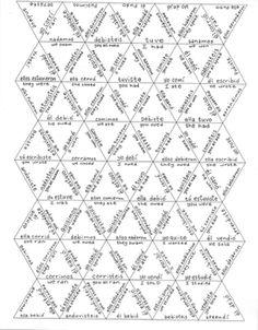 Spanish preterite verb puzzle ~Spanish vocabulary puzzle ~verbos ~preterito
