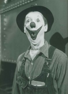 """James Stewart as Buttons the clown in """"The Greatest Show On Earth!"""" Loved this movie"""