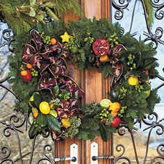 101 Fresh Christmas Decorating Ideas   Try a Two-Piece Wreath   SouthernLiving.com