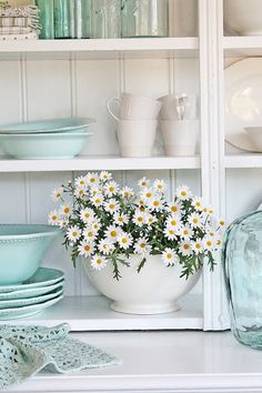VIBEKE DESIGN- gorgeous. I love the light blue with the white. I feel like its totally staged though. If there were less natural sunlight, it would just look icky.