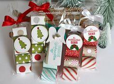 Süße Kleinigkeit zu Weihnachten - Küsschen und Mon Cherie hübsch verpackt