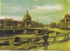 Van Gogh - Blick auf Amsterdam vom Hauptbahnhof, 1885