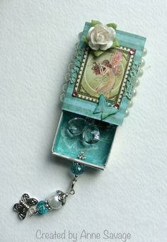"""Gift from a Fairy"" Altered Matchbox/Charm swap (2015), hosted by Art Charms Group."