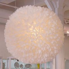 DIY Moss Feather Style Chandelier - http://wedesign.la/interior-design/diy-moss-feather-style-chandelier/