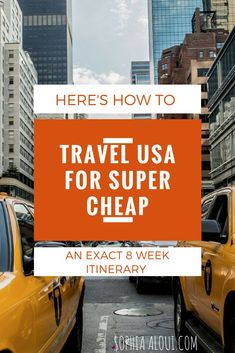 How to travel the USA on a budget. USA itinerary, travel destination, hacks and tips, packing, bucket list. Packing Tips For Travel, Travel Advice, Budget Travel, Travel Guides, Travel Hacks, Backpacking Tips, Places To Travel, Travel Destinations, Vacation Quotes