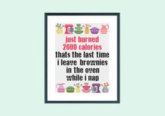 Funny cross stitch pattern burning calories by SpruceCraftCo
