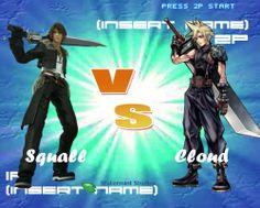 Squall vs Cloud.  Who would win?  FFVIII & FFVII