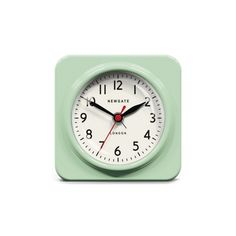 The Biscuit alarm clock in green by Newgate Clocks