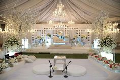White Hijab Wedding Dresses, Dream Wedding Dresses, Wedding Stage, Wedding Reception, Rustic Wedding, Marquee Decoration, Wedding Gift Wrapping, Malay Wedding, Butterfly Wedding