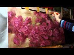 """▶ """"Пионы"""". Олег Буйко. Живопись маслом. Process of creating oil painting. - YouTube"""