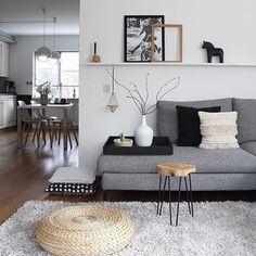 Beautiful Nordic Living Room Design Ideas 2840 - Selbermachen - Home Sweet Home Nordic Living Room, Ikea Living Room, Living Room Carpet, Interior Design Living Room, Living Room Designs, Living Spaces, Small Living, Scandinavian Living, Scandinavian Interior