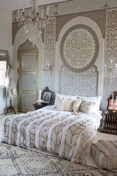 M.Montague - Tribal Chic for the Modern Nomad - Bedroom at Peacock Pavilions, Marrakech, Morocco