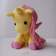 Amigurumi Crochet Unicorn Pattern  Peachy Rose the Unicorn