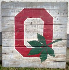 Ohio State University Block O Wall Hanging by PalletsandPaint