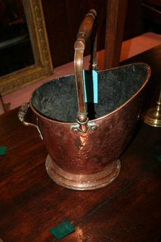 OLD COPPER | Antique Antique Copper Coal Bucket