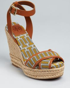 Tory Burch Wedges - Florian Criss Cross