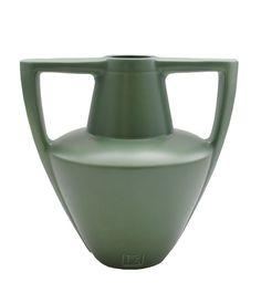 Haeger Potteries Frank Lloyd Wright Amphora Handle Vase FLW Green Rare #RoyalHaegerFrankLloydWright