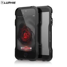 Per iphone 5 s se luphie slim metallo phone bumper case per iphone 5 se alluminio della pagina del respingente della copertura del telefono + posteriore in pelle Sticker