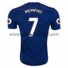 Fodboldtrøjer Premier League Manchester United 2016-17 Memphis 7 Udebanetrøje