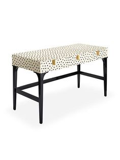 we're firm believers that pretty things increase productivity. the hand-painted dots on this sweet downing desk will keep the creativity flowing so you can work beautifully.