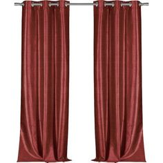 Bloomsbury Market Calumet Solid Semi-Sheer Grommet Single Curtain Panel Color: Garnet
