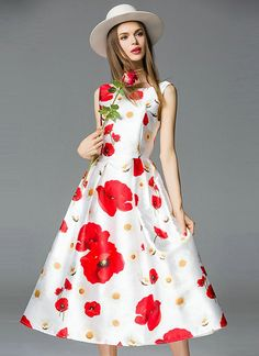 ca229553fd933 Fancy White and Red Colour Designer Taffeta Silk One Piece Dress. Party Dresses  Online,
