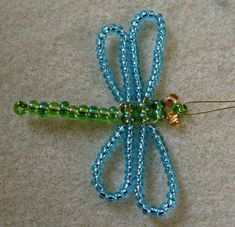 how to make a beaded dragonfly, step by step instructions