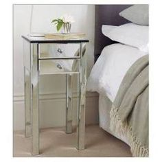 mirrored bedside table - Google Search £139