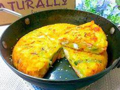 一顆南瓜總是要分好幾次來消化~爬了幾篇食譜來試試不一樣的料理~加上的海鮮這樣的組合做成的煎餅~賀甲!