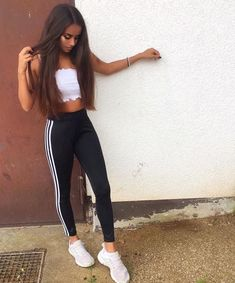 bdad0d128f evetrudel Outfits Dia, School Outfits, Crop Top Outfits, Basic Outfits, Cute